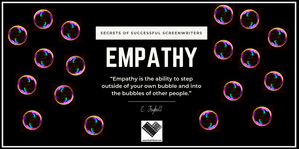 Secrets of Successful Screenwriters.Empathy Twitter Post