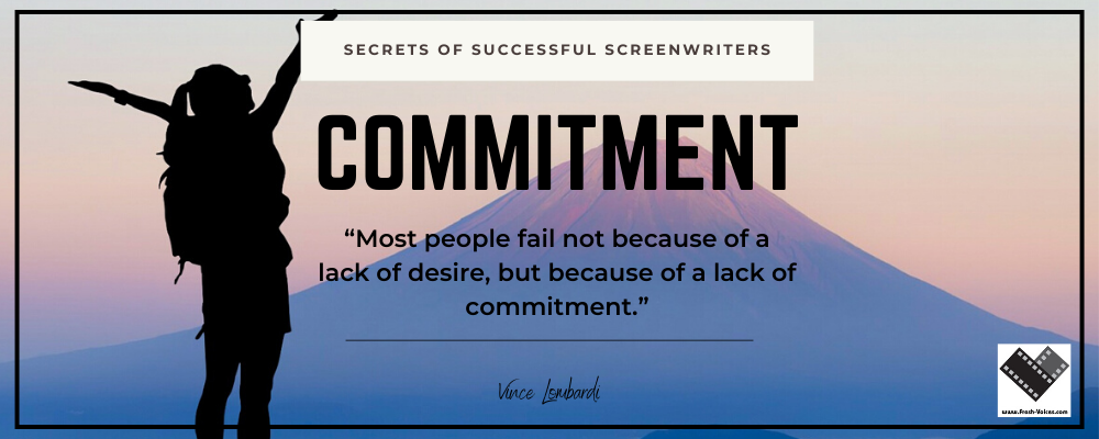 Secrets of Successful Screenwriters Commitment 1000x400